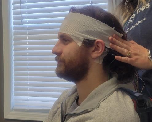 EEG head wrap