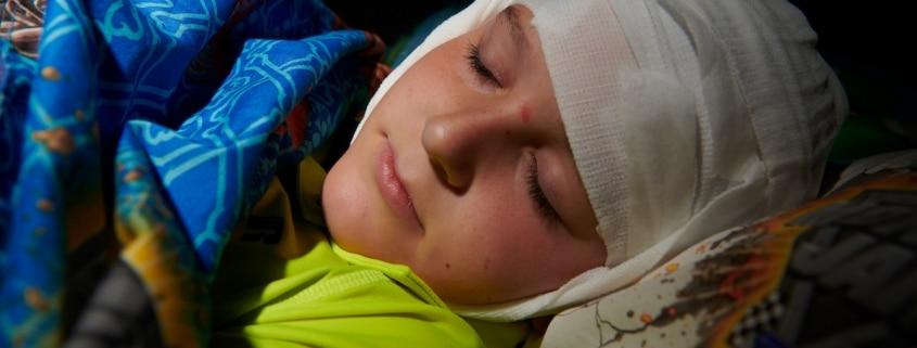 boy asleep during aeeg